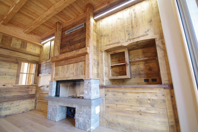 Pareti e soffitti in legno antico